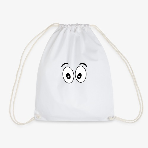 wide eye 1 - Drawstring Bag