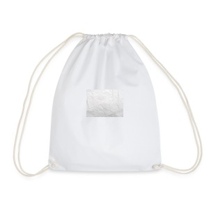Crumpled White Paper Texture - Drawstring Bag