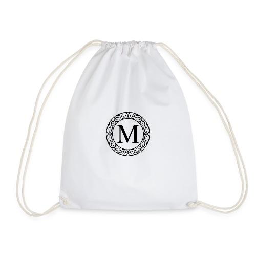 the letter M - Drawstring Bag