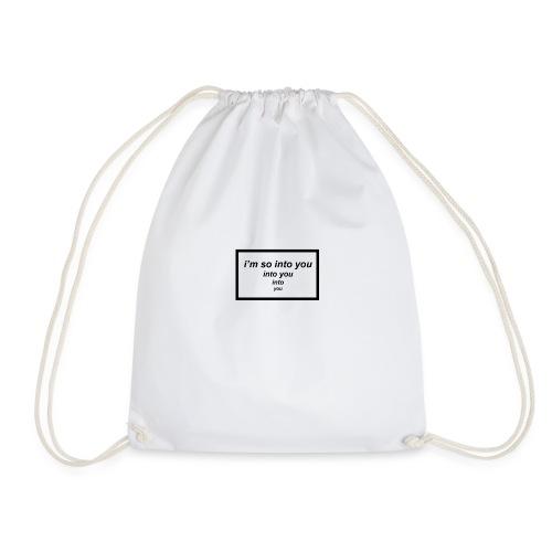 i'm so into you - Drawstring Bag