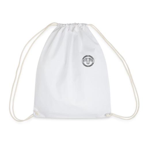 RamSkull Apparell Black long sleeve baseball tee - Drawstring Bag