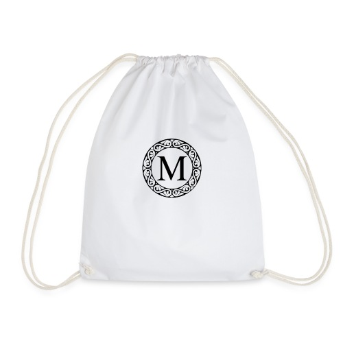 the letter M - Drawstring Bag