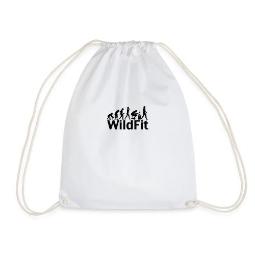 WildFit Logo Evolution in Schwarz - Turnbeutel