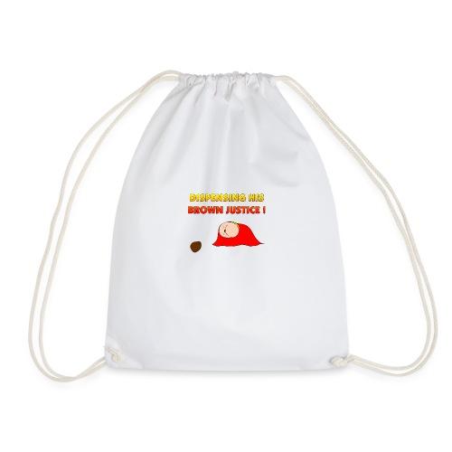 Flying Bum (diagonal) - with text - Drawstring Bag