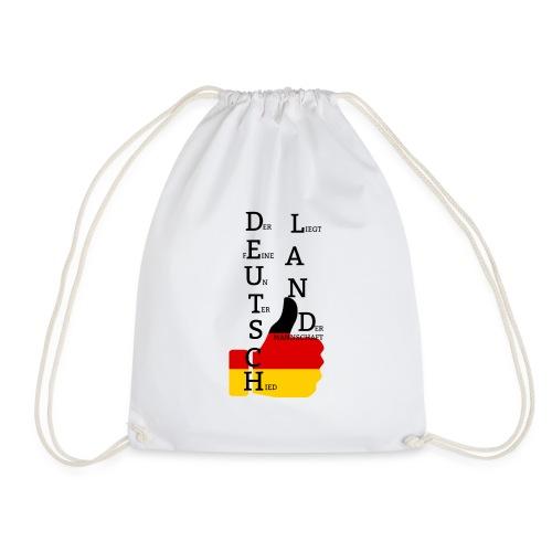 Deutsche Flagge mit Daumen 2 (Exklusives Design) - Turnbeutel