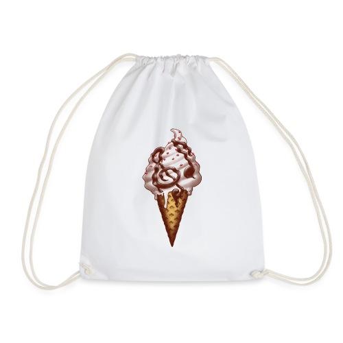 Ice Cream Music Note - Drawstring Bag