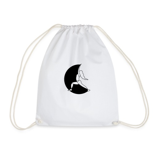 Warrior Princess Yoga Logo black Moon - Drawstring Bag