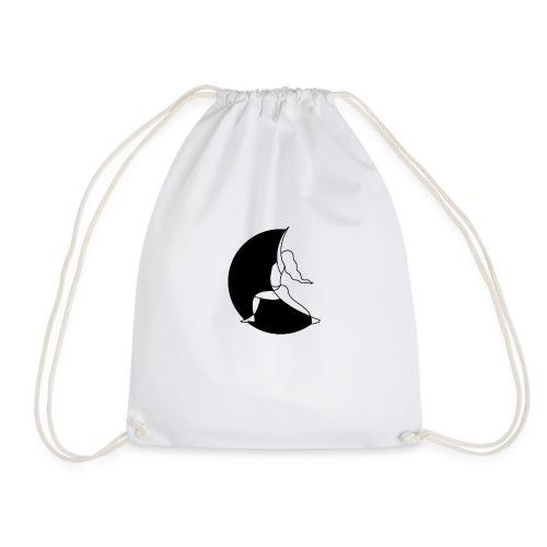 Warrior Princess Yoga Logo black Moon - Drawstring Bag
