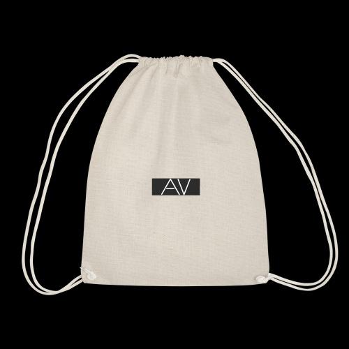 AV White - Drawstring Bag