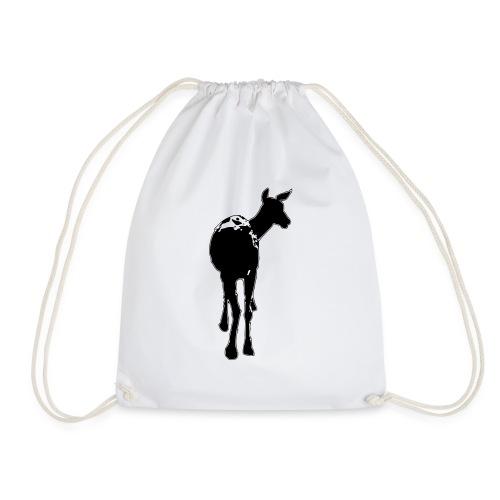 Reh deer Hirschkuh Silhouette - Turnbeutel