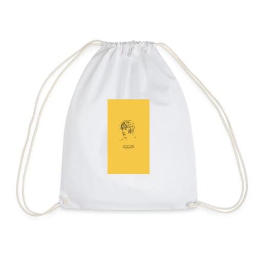 Yellow Boy Art - Drawstring Bag