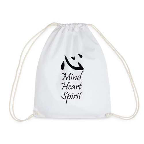 Studio Kokoro Mind Heart Spirit black - Drawstring Bag