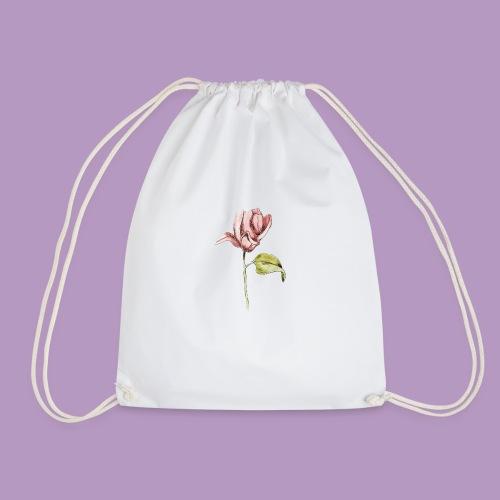 Rosa rosa garabatos - Mochila saco