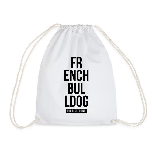 French Bulldog Script - Turnbeutel