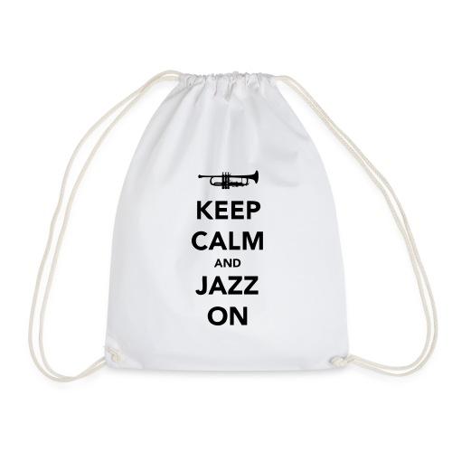 Keep Calm and Jazz On - Trumpet - Drawstring Bag