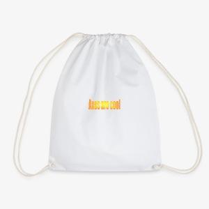 Axes are cool - Drawstring Bag