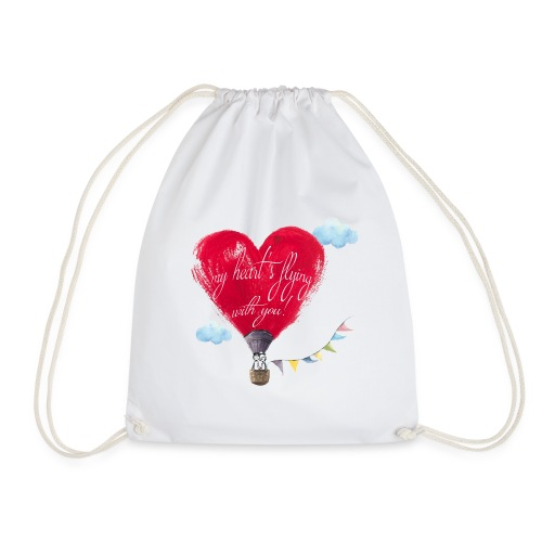 my heart is flying with you! - Sacca sportiva