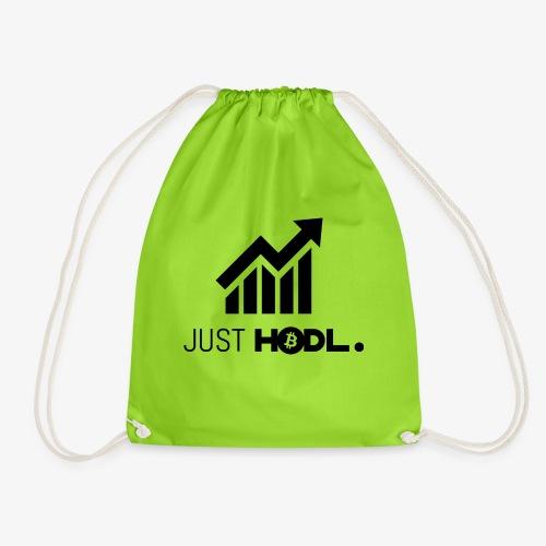 HODL-btc-just-black - Drawstring Bag