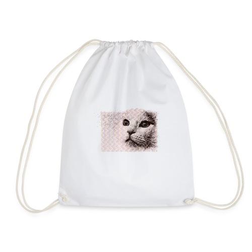 Katze mit Schwingungen - Turnbeutel