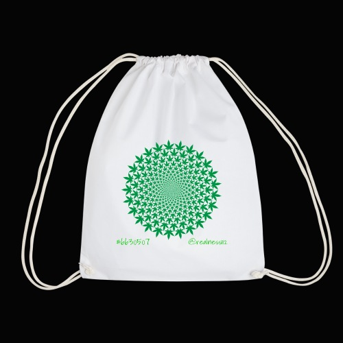 Geometric Cannabis!! Truth T-Shirts!! #Geometry - Drawstring Bag