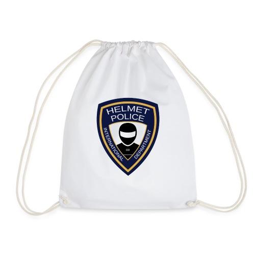 HELMET POLICE AT LAZYROLLING - Drawstring Bag