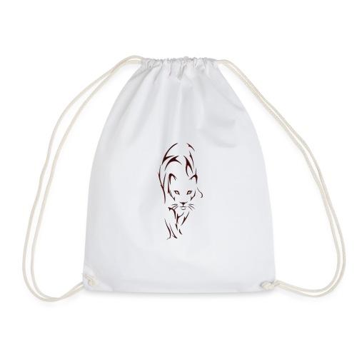 Big cat outline - Drawstring Bag