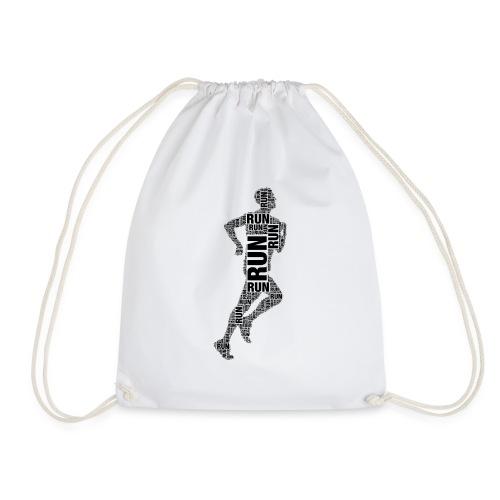 runner running - Drawstring Bag