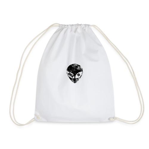 area 10 plain logo male polo top - Drawstring Bag