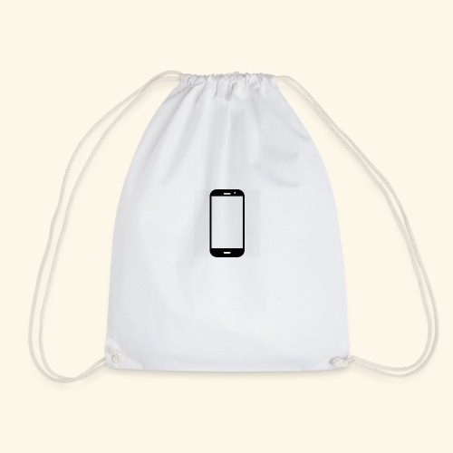 Phone clipart - Drawstring Bag