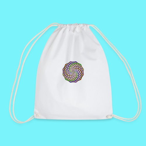 Mandala in rainbow colours - Drawstring Bag