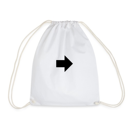 if arrow full right 103295 - Drawstring Bag