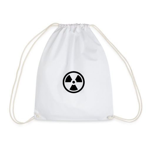 military bomb nuclear danger bomb radioactive - Drawstring Bag