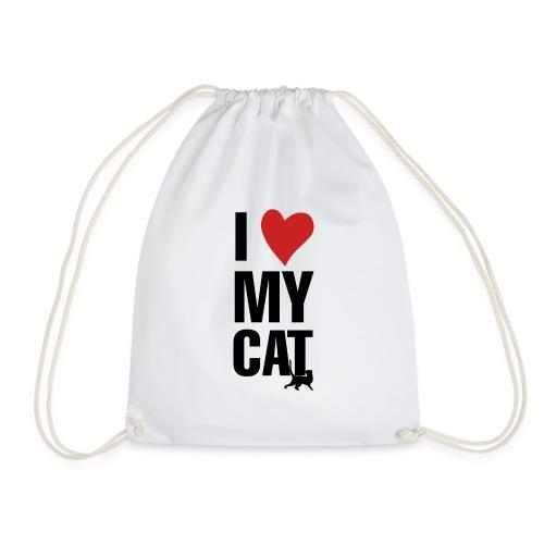 I_LOVE_MY_CAT-png - Mochila saco