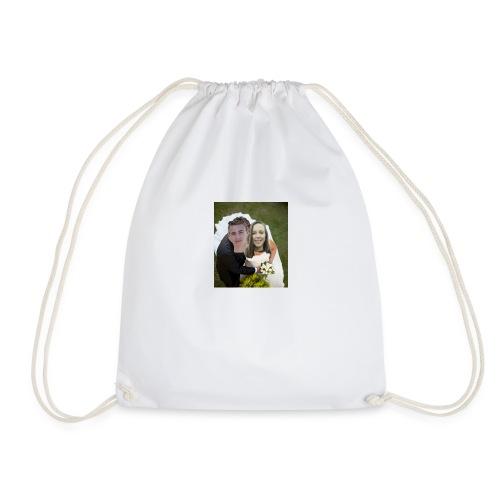 cute wedding photo - Drawstring Bag