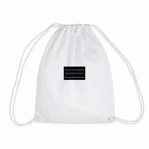 Math Problem - Drawstring Bag