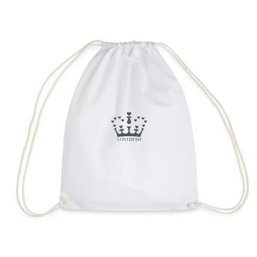LD crown logo hearts png - Drawstring Bag