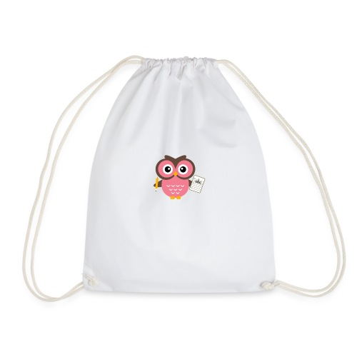 Back to School Owl - Drawstring Bag