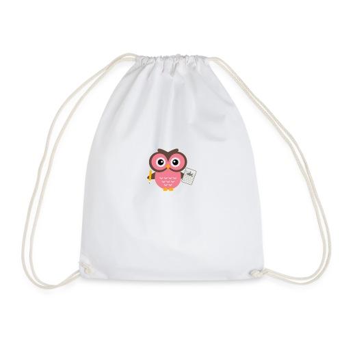 Back to School Owl - Drawstring Bag