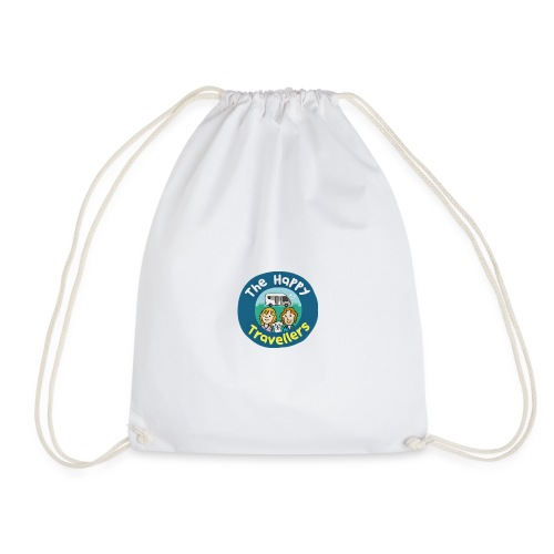 Happy Travellers ORIGINAL Logo Merch - Drawstring Bag