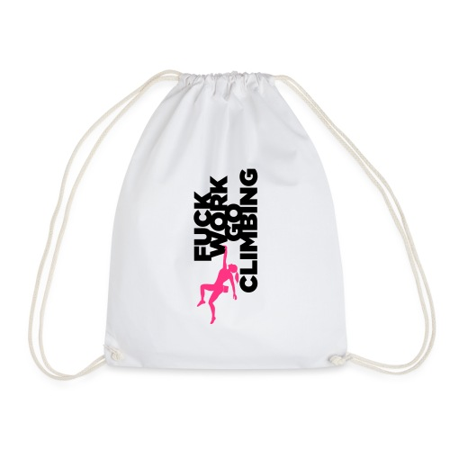 Go Climbing girl! - Drawstring Bag