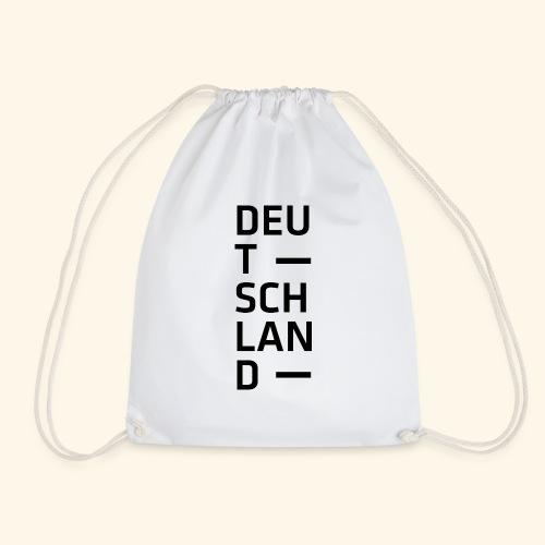 Deutschland Typo T Shirt Spruch - Turnbeutel
