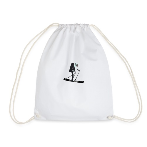 Moonlight Skiing - Drawstring Bag