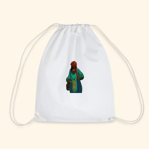 Femme avec sac motif - Sac de sport léger
