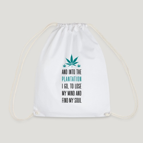 Cannabis Into the forest i go Gras Hanf Canna Dope - Turnbeutel