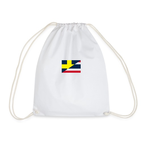 thailands flagga dddd png - Drawstring Bag