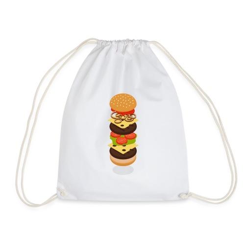 Isometric Burger Tower - Drawstring Bag