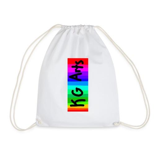 KG Arts Rainbow Banner - Drawstring Bag