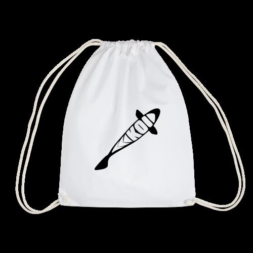 KOI - schwarzes Logo - Turnbeutel