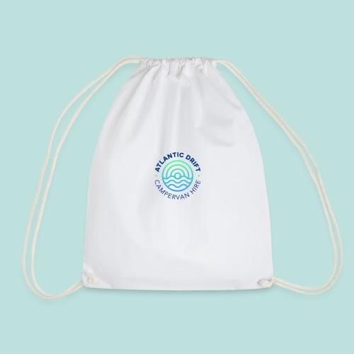 Atlantic Drift Logo (Blue) - Drawstring Bag