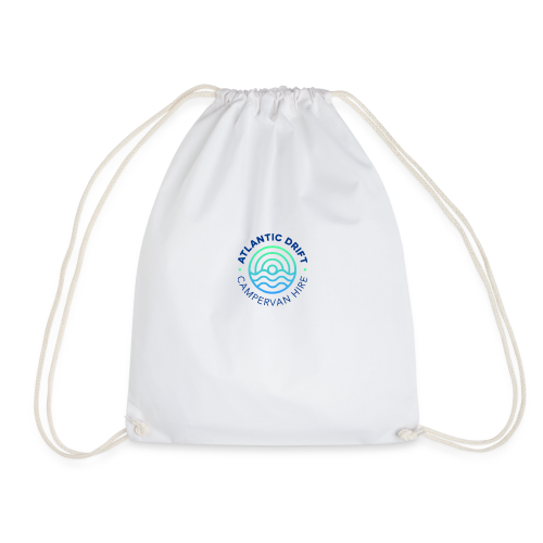 Atlantic Drift Logo (Blue) - Drawstring Bag